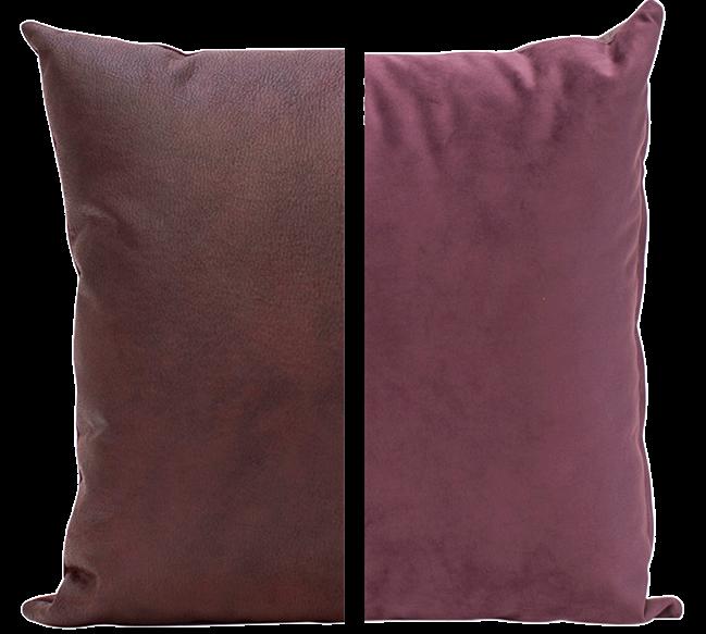 Duo Cushion - Plum/Plum - 45cm x 45cm