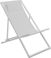 Deck Chair - White