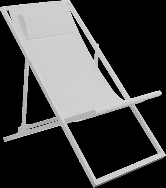 Deck Chair - White