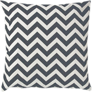 Chevron Cushion - Distressed Black - 50 x 50cm