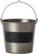 Drinks Bucket With Chalk Label - Galvanised