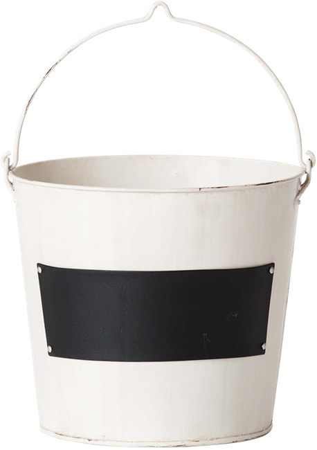 Drinks Bucket With Chalk Label - Vanilla