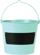Drinks Bucket With Chalk Label - Pale Blue