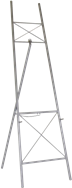 Easel - Silver- 1.8m H