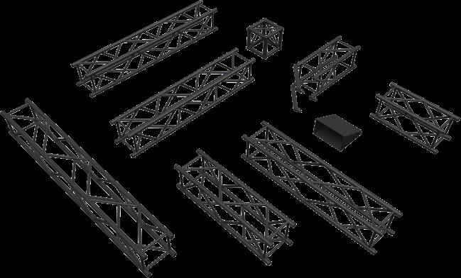 3m 300mm Box truss Black