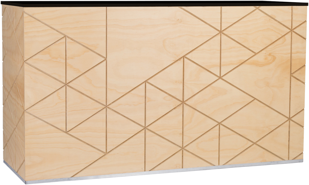 Food Station - Geo Timber - 60 x 180 x 90cm H