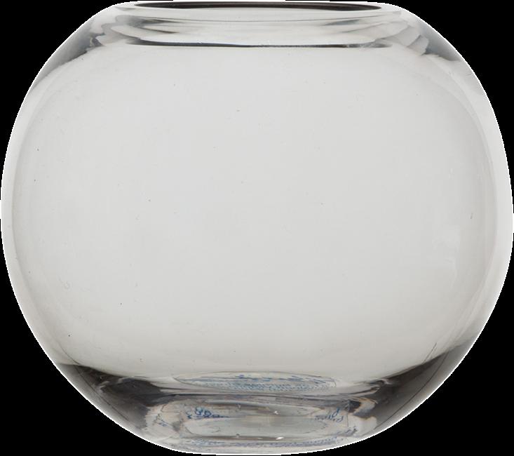 Vase - Glass Medium Fish Bowl - 17cm H