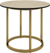 Gold Arc Side Table