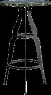 Black Gondola Bar Table