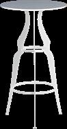 White Gondola Bar Table