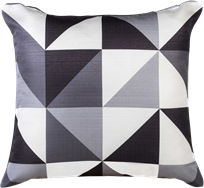 Geo Cushion - Grey/Black - 50 x 50cm