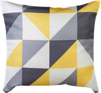 Geo Cushion - Lemon - 50 x 50cm