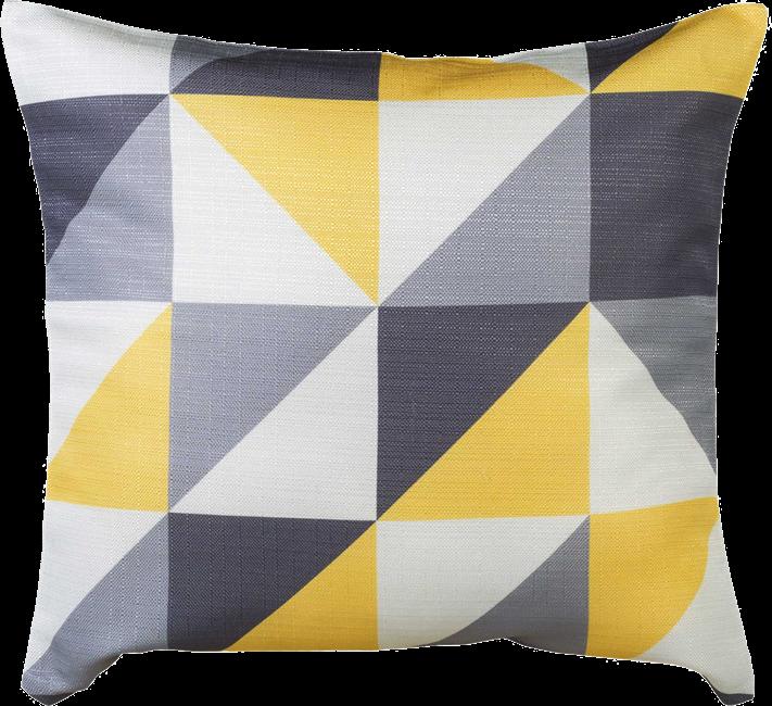 Geo Cushion - Lemon - 50 x 50cm