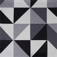 Geo Table Cloth - Grey/Black - 2.1 x 2.1m