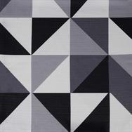 Geo Table Runner - Grey/Black - 2.7m x 25cm