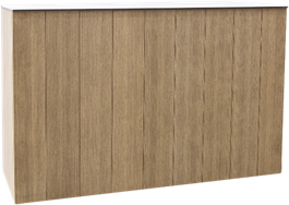 Service Bar - Peninsula - Teak - 60 x 180 x 110cm H