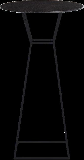 Black Hourglass Bar Table