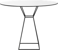 Black Hourglass Cafe Table