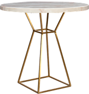 Gold Hourglass Cafe Table