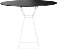 White Hourglass Cafe Table