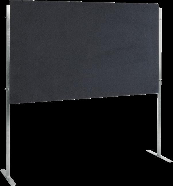 Multi-link panels 2.0 x 1.2m black horizontal