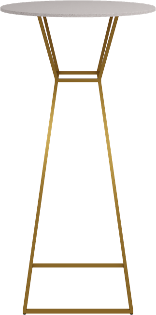 Gold Hourglass Bar Table