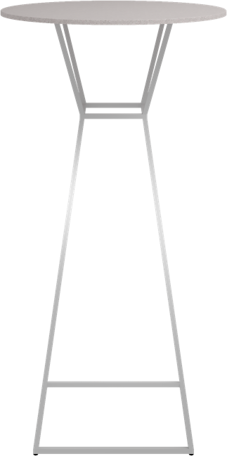 White Hourglass Bar Table