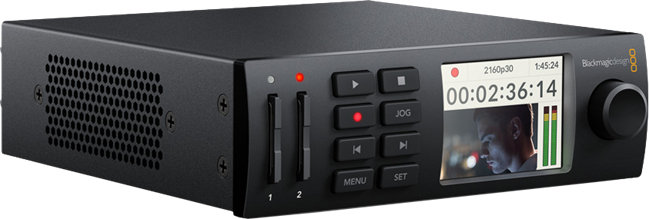 BlackMagic HyperDeck Mini with up to 4hrs recording time