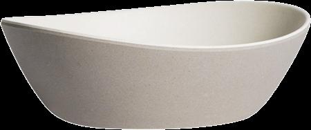 Kira Oval Bowl Small - Grey /Oat - 15 x 13 x 4cm H