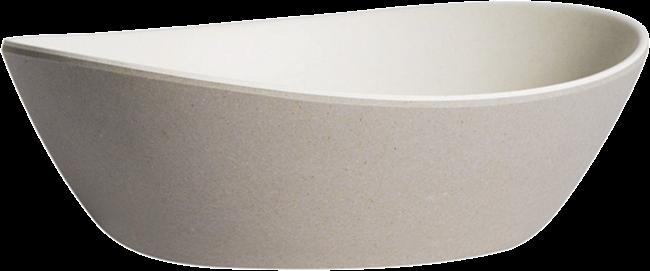 Kira Oval Bowl Small - Concrete /Oat - 15 x 13 x 4cm H