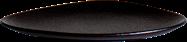 Storm Plate -  Black - 19 x 13 x 2cm H