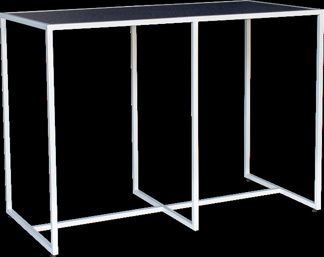 White Linear Bar Table - 150 x 70cm