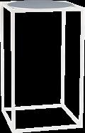 White Linear Bar Table