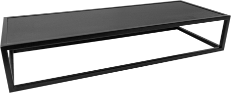 Black Linear Table Riser - 80 x 30 x 15cm H