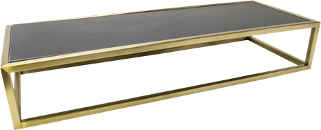 Gold Linear Table Riser Frame - 80 x 30 x 15cm H