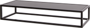 Black Linear Table Riser Frame - Black Top - 80 x 30 x 15cm H