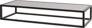 Black Linear Table Riser Frame - White Top - 80 x 30 x 15cm H