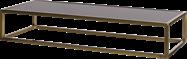 Gold Linear Table Riser Frame - Black Top - 80 x 30 x 15cm H