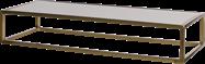 Gold Linear Table Riser Frame - White Top- 80 x 30 x 15cm H