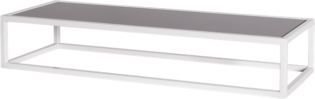 White Linear Table Riser Frame - Black Top - 80 x 30 x 15cm H