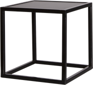 Black Linear Table Riser Frame - Black Top - 30 x 30 x 30cm H