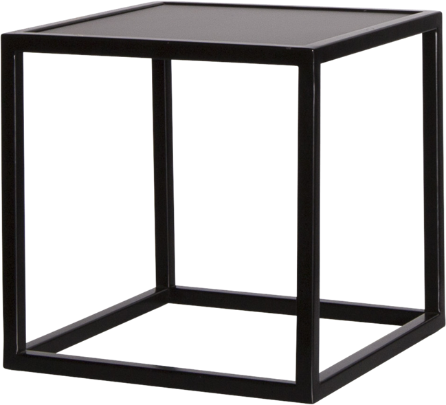 Black Linear Table Riser Frame - Black Top - 30 x 30 x 30cm H