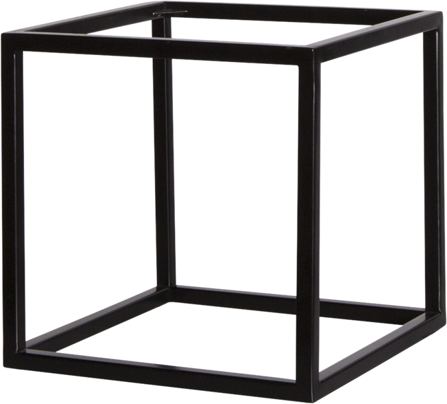 Black Linear Table Riser Frame only - 30 x 30 x 30cm H