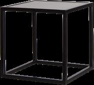 Black Linear Table Riser Frame - White Top - 30 x 30 x 30cm H