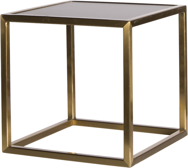 Gold Linear Table Riser Frame - Black Top - 30 x 30 x 30cm H