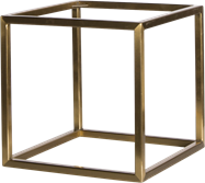 Gold Linear Table Riser Frame only - 30 x 30 x 30cm H