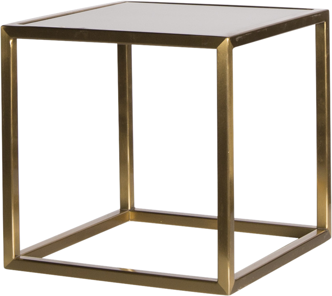 Gold Linear Table Riser Frame - White Top - 30 x 30 x 30cm H