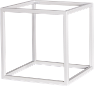 White Linear Table Riser Frame only - 30 x 30 x 30cm H