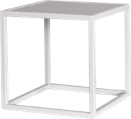 White Linear Table Riser Frame - White Top - 30 x 30 x 30cm H