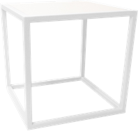 White Linear Table Riser Frame - 30 x 30 x 30cm H